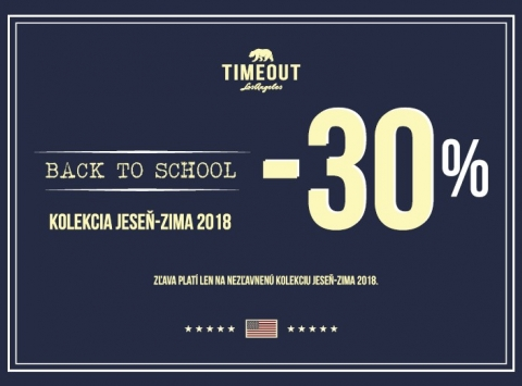 BACK TO SCHOOL –30% !