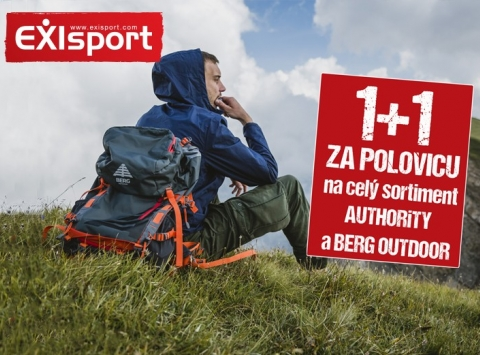 1+1 za polovicu na celý sortiment značiek BERG OUTDOOR a AUTHORITY