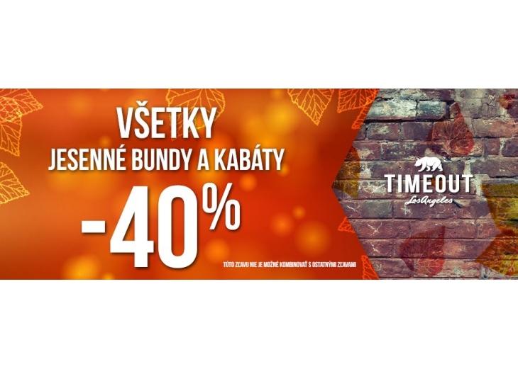 Všetky jesenné bundy a kabáty -40% v TIMEOUT  075aa21d50e