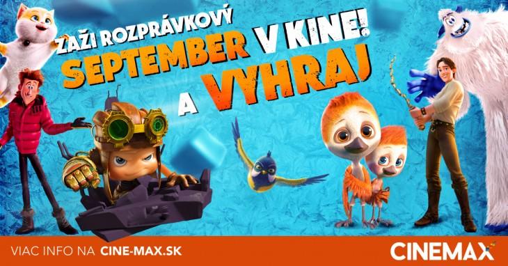 7aadfe541 Zaži rozprávkový september v kine a vyhraj každý víkend knižku. Viac info  na www.